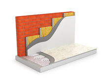 Concept of a warm home. Underfloor heating Stock Image