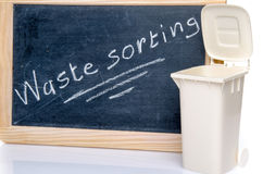 Concept about waste sorting with a trash can Royalty Free Stock Photo
