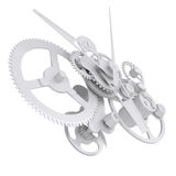 Concept watch mechanism. Isolated render on white background Stock Photo