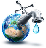 Concept of water conservation in Europe. And Africa royalty free illustration
