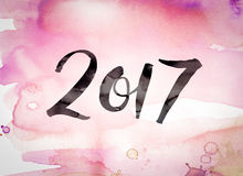 2017 Concept Watercolor Theme Royalty Free Stock Photography