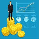 Concept of wealth Royalty Free Stock Image