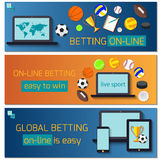 Concept for web banner sports betting statistics Royalty Free Stock Photos