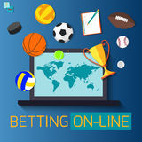 Concept for web banner sports betting statistics Royalty Free Stock Photography