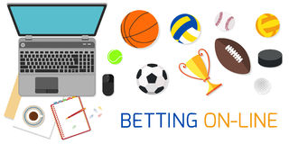 Concept for web banner sports betting statistics Royalty Free Stock Image