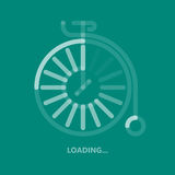 Concept web design loading elements bike symbol for your logo, app, UI. Old Bicycle Icon in flat style on colorful background. Concept web design loading Royalty Free Stock Image