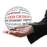 Concept of web design Stock Photography