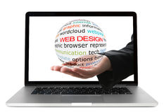 Concept of web design royalty free stock photography