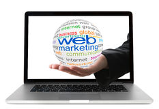 Concept of web marketing Stock Images