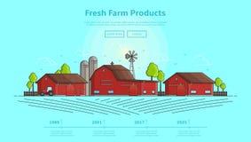 Concept Webbanner met landbouwbedrijf Stock Foto