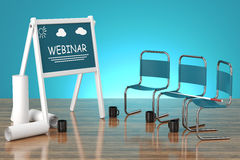 Concept webinar Royalty Free Stock Photography