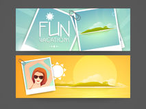 Concept of website banner or header. Royalty Free Stock Images