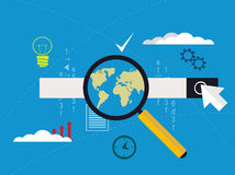 Concept  of website code optimization and web programming process Royalty Free Stock Image