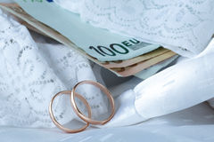 Concept of wedding cost Stock Images