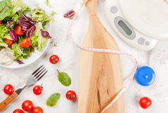 Concept of weight loss and healthy eating royalty free stock photo