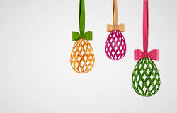 Concept white easter eggs Royalty Free Stock Photo