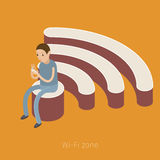 Concept of Wifi zone. Stock Photography