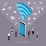 Concept of Wifi zone. Stock Photo
