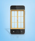 Concept of a window in new vision. Stock Image
