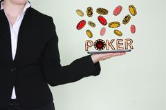 Concept of winning poker chips. royalty free stock image