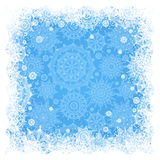 Concept winter frame with snowflakes. Stock Images