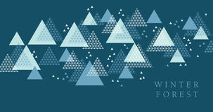 Concept winter geometry design element. Modern style vector illustration for header, card, poster, invitation. Abstract line grid pattern triangle motif for Stock Images
