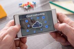 Concept wolk gegevensverwerking stock afbeeldingen