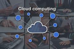 Concept wolk gegevensverwerking royalty-vrije stock afbeelding