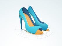 Concept of women's heel sandal. Stock Photo