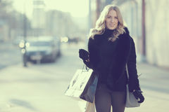 Concept of women shopping Stock Photo