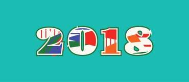 Concept 2018 Word Art Illustration illustration libre de droits