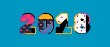 Concept 2018 Word Art Illustration illustration de vecteur