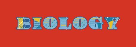 Concept Word Art Illustration de biologie illustration stock