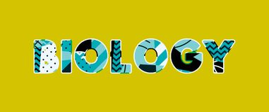 Concept Word Art Illustration de biologie illustration libre de droits