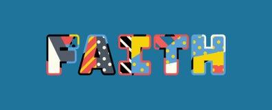Concept Word Art Illustration de foi illustration de vecteur