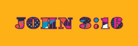 Concept Word Art Illustration de 3h16 de John illustration stock
