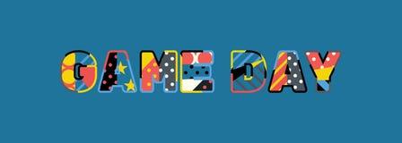 Concept Word Art Illustration de jour de jeu illustration de vecteur