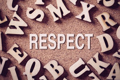 Concept Word de respect image libre de droits