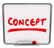 Concept Word Dry Erase Board New Innovative Idea Stock Photography