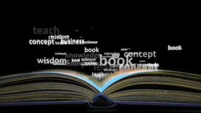 The concept of the word education. Word cloud emitted from the book