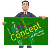 Concept Word Means Abstraction Thinking And Invention Royalty Free Stock Photography