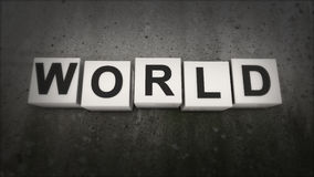 The concept of the word WORLD. What does the word peace. World. The concept of the word WORLD. What does the word peace Stock Photo