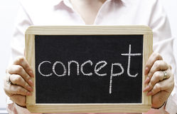 Concept word written on blackboard/chalckboard Stock Images