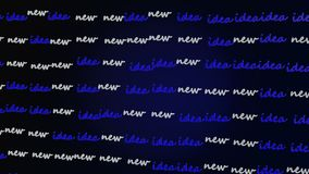 Concept with words New Idea stock footage
