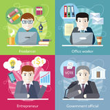 Concept Work Employed Freelancer Royalty Free Stock Image