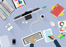 Concept of work place. Royalty Free Stock Images