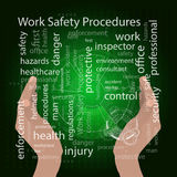 The concept of work safety procedures Royalty Free Stock Photography