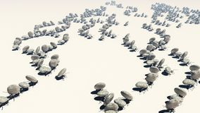 Concept work, team of ants. Moving stones; 3d illustration stock images