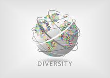 Concept of workforce diversity around the world Stock Photo