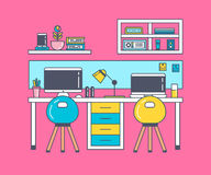 The concept of working place for creative people Royalty Free Stock Photo